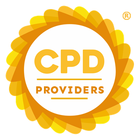 Circular CPD Group logo with orange and yellow border. Contains text: CPD PROVIDERS.