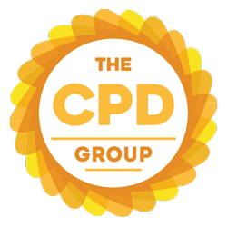 The CPD Group logo. Orange and yellow circular border containing text: THE CPD GROUP.